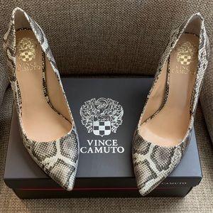 Vince Camuto Savilla Gold Metallic Snake Heels